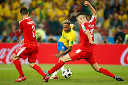 June 27, 2018 - Moscou, Rússia - MOSCOU, MO - 27.06.2018: SERBIA VS BRAZIL - Neymar Jr. of Brazil risks kicking during a match between Serbia and Brazil valid for the third round of group E of the 2018 World Cup, held at the Otkrytie Arena in Moscow, Russia. (Credit Image: © Marcelo Machado De Melo/Fotoarena via ZUMA Press)