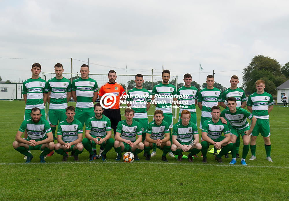 25-08-19. Trim Celtic v Rock Celtic - NEFL Premier Division at Tully Park, Trim.<br /> The Trim Celtic team which defeated Rock Celtic L to R.<br /> Back: Oisin Smith, Eoghan O'Connor, Aaron Williams, Aaron Ryan, James Goggins, Colm Carney, Callum Ennis, Luke Mahon, Conor Walsh, Ciaran O'Connell.<br /> Front: Paul Munnelly, Mark Leavy, Brian Faulkner, Sean Fitzgerald, Cillian Corcoran, Dean Courtney, Gary O'Connell and Jack O'Keeffe.<br /> Photo: John Quirke / www.quirke.ie<br /> ©John Quirke Photography, Unit 17, Blackcastle Shopping Cte. Navan. Co. Meath. 046-9079044 / 087-2579454.