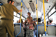 Israel, Jerusalem, Interior of an Egged city bus