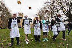 2018-02-13 SWNS Parliamentary pancake race