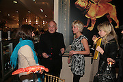 Roya Sachs, Rolf Sachs and Valerie V. Bechtolshem, Surrealism at Selfridges. London. 22 March 2007.  -DO NOT ARCHIVE-© Copyright Photograph by Dafydd Jones. 248 Clapham Rd. London SW9 0PZ. Tel 0207 820 0771. www.dafjones.com.