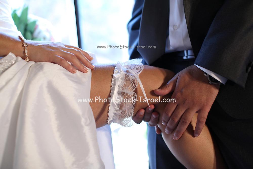 Bride and groom on their wedding night