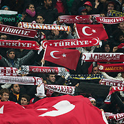 Turkey's supporters during their UEFA EURO 2012 Play-off for Final Tournament First leg soccer match Turkey betwen Croatia at TT Arena in Istanbul Nüovember11, 2011. Photo by TURKPIX