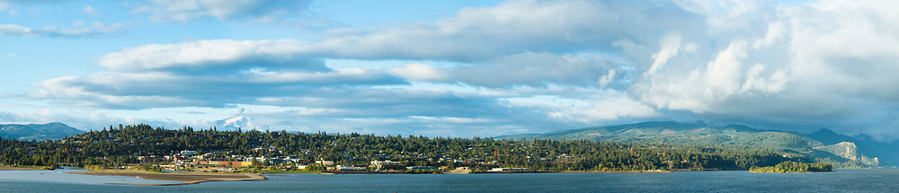 Panoramic image of Hood River in the Columbia River Gorge, OR.