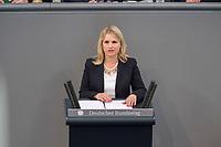 24 MAR 2017, BERLIN/GERMANY:<br /> Verena Bentele, Beauftragte der Bundesregierung<br /> für die Belange von Menschen mit Behinderungen, haelt eine Rede, waehrend der Bundestagesdebatte zum Teilhabebericht der Bundesregierung 2016, Plenum, Deutscher Bundestag<br /> IMAGE: 20170324-01-059