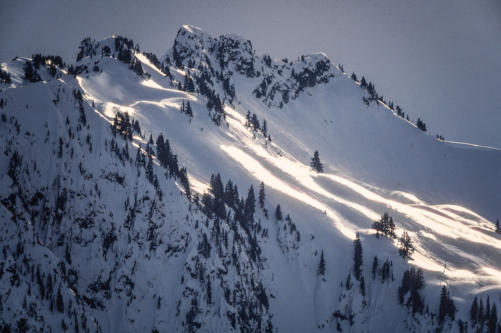 Wahpenayo Peak, The Tatoosh Range, winter, view from Mount Rainier National Park, Washinton, USA
