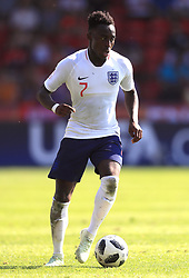 England U17's Arvin Appiah during the UEFA European U17 Championship, Group A match at Banks's Stadium, Walsall. PRESS ASSOCIATION Photo. Picture date: Monday May 7, 2018. See PA story SOCCER England U17. Photo credit should read: Mike Egerton/PA Wire. RESTRICTIONS: Editorial use only. No commercial use.