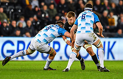 Ospreys' Olly Cracknell is tackled by Leinster's Jack Conan<br /> <br /> Photographer Craig Thomas/Replay Images<br /> <br /> Guinness PRO14 Round 18 - Ospreys v Leinster - Saturday 24th March 2018 - Liberty Stadium - Swansea<br /> <br /> World Copyright © Replay Images . All rights reserved. info@replayimages.co.uk - http://replayimages.co.uk