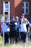 Caolan Rafferty (GB&I) supporting Alex Fitzpatrick (GB&I) on the 17th tee during Day 2 Foursomes of the Walker Cup, Royal Liverpool Golf CLub, Hoylake, Cheshire, England. 08/09/2019.<br /> Picture Thos Caffrey / Golffile.ie<br /> <br /> All photo usage must carry mandatory copyright credit (© Golffile   Thos Caffrey)