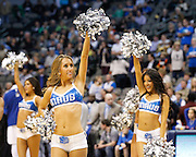 The Dallas Mavericks cheerleaders perform during a timeout against the San Antonio Spurs at American Airlines Center in Dallas, Texas, on January 25, 2013.  (Stan Olszewski/The Dallas Morning News)
