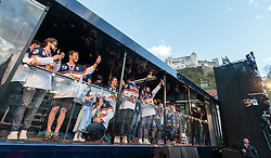 15.04.2016, Kapitelplatz, Salzburg, AUT, EBEL, Meisterfeier EC Red Bull Salzburg, im Bild Jubel bei den Salzburger Spielern // Jubel bei den Salzburger Spielern during the Erste Bank Icehockey Liga Championships Party of EC Red Bull Salzburg at the Kapitelplatz in Salzburg, Austria on 2016/04/15. EXPA Pictures © 2016, PhotoCredit: EXPA/ JFK