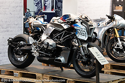 Custom in BMW's Intermot Customized hall 10 display at the Intermot International Motorcycle Fair. Cologne, Germany. Saturday October 6, 2018. Photography ©2018 Michael Lichter.Intermot International Motorcycle Fair. Cologne, Germany. Saturday October 6, 2018. Photography ©2018 Michael Lichter.