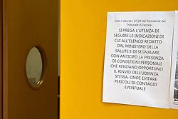 RIAPERTURA DEL TRIBUNALE DI FERRARA DOPO CHIUSURA PER EMERGENZA CORONAVIRUS<br /> FASE 2 COVID COVID19 FERRARA