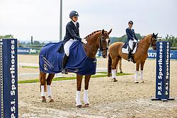 DE VRIES Mara (NED), Habibi Dvb<br /> Siegerehrung<br /> Prix St. Georg - international<br /> CDI1*<br /> Hagen - CDI 2020<br /> 16. Juli 2020<br /> © www.sportfotos-lafrentz.de/Stefan Lafrentz