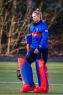 BILTHOVEN -  Hoofdklasse competitiewedstrijd dames, SCHC v hdm, seizoen 2020-2021.<br /> Foto: Keeper Alexandra Heerbaart (SCHC)
