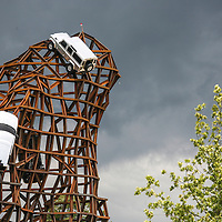 Land Rover - The Rock, creation by sculptor Gerry Judah at Goodwood Festival of Speed 2008