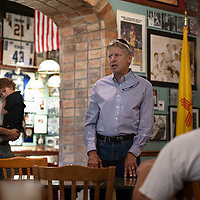 Gary Johnson, Senate hopefully and former Govenor of New Mexico makes a stop in Gallup at Sammy C's to talk with constituents and answer questions, Monday Sept. 10, 2018.