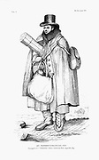William Buckland (1784-1856) British geologist and clergyman, equipped to explore a glacier. From sketch by Thomas Sopwith. Buckland tried to reconcile date of Creation at 4004 BC with new geological discoveries. From Archibald Geike 'Life of Sir Roderick I. Murchison' London 1875.