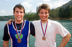 Matej Rojec and Andraz Krek of Ljubljanica-Argo at 51st Prvomajska Regatta Bled 2010, on April 25, 2010, at Lake Bled, Bled, Slovenia. (Photo by Vid Ponikvar / Sportida)