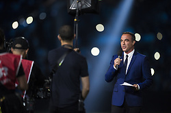 Nikos Aliagas during an exhibition football match between France's 1998 World Cup's French football national team and FIFA 98 composed with former international players, to mark the 20th anniversary of France's 1998 World Cup victory, on June 12, 2018 at the U Arena in Nanterre, near Paris. Photo by ELIOT BLONDET/ABACAPRESS.COM
