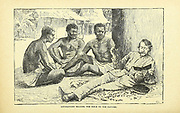 Livingstone Reading the Bible to the Natives From the book ' David Livingstone ' by Brice, A. H. M. (Arthur Hallam Montefiore), 1859-1927 Published by United Brethren Pub. House, Dayton, Ohio in 1880