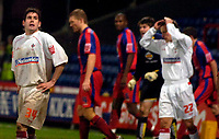 Photo: Alan Crowhurst.<br />Crystal Palace v Swindon Town. The FA Cup. 06/01/2007. Swindon's Michael Timlin (L) rues missing a great chance late on.