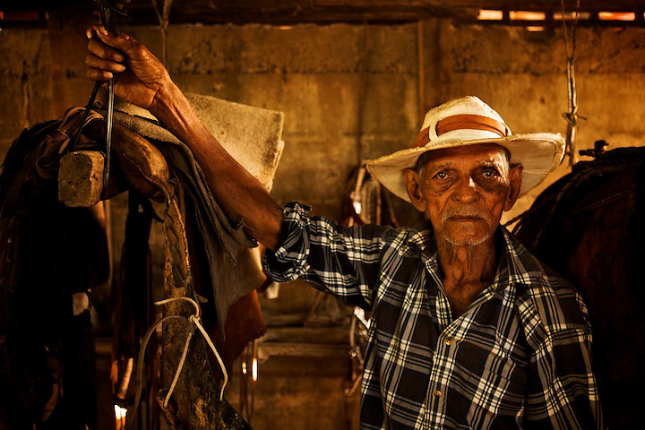 """Jose Jae?n, 93 years old, """"Goio"""" for friend, is  still competing in lazo tournaments."""