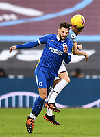 Football - 2020 / 2021 Premier League - West Ham United vs Brighton & Hove Albion - London Stadium<br /> <br /> Brighton & Hove Albion's Adam Lallana battles for possession with West Ham United's Mark Noble.<br /> <br /> COLORSPORT/ASHLEY WESTERN