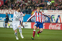 Atletico de Madrid's Fernando Torres and Real Madrid's Sergio Ramos during 2014-15 Spanish King Cup match at Vicente Calderon stadium in Madrid, Spain. January 07, 2015. (ALTERPHOTOS/Luis Fernandez)