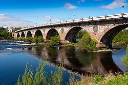 View of Smeaton's Bridge crossing River Tay, in Perth ,Perthshire, Scotland, UK