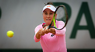 Kamilla Rakhimova of Russia in action against Shelby Rogers of the United States during the first round of the Roland Garros 2020, Grand Slam tennis tournament, on September 27, 2020 at Roland Garros stadium in Paris, France - Photo Rob Prange / Spain ProSportsImages / DPPI / ProSportsImages / DPPI