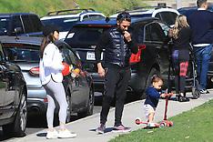 Eva Longoria and her husband Jose Baston takes their kid Santiago to the park - 5 Feb 2020