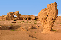 Renmains of the ancient cty of Gaochang on the historic Silk Road in Xinjiang Province in western China