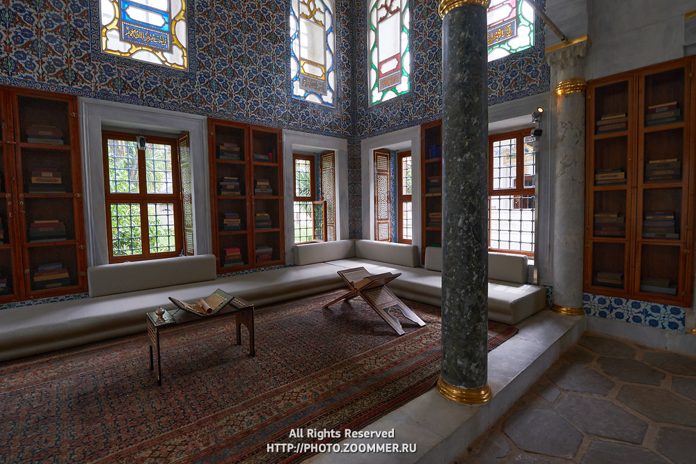 Library of Ahmed III in Topkapi Palace, Istanbul, Turkey