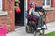 Service user outside his home.<br /> Client  - Allerton, an integrated social care, housing, and development company.