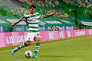 Pedro Porro in action during the Liga NOS match between Sporting Lisbon and Belenenses SAD at Estadio Jose Alvalade, Lisbon, Portugal on 21 April 2021.