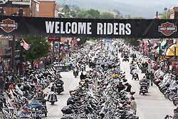 Main Street during the annual Sturgis Black Hills Motorcycle Rally.  SD, USA.  August 6, 2016.  Photography ©2016 Michael Lichter.
