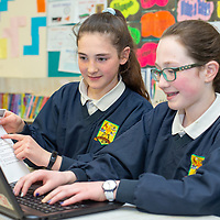 Aine Daly and Ann Maria Moloney working on their  Jessies project 'Feakle Family Favourites' Cookbook