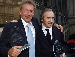 Scottish Sports Hall of Fame-First 50 Sporting Heroes-National Museum of Scotland.Denis Law and Sir Jackie Stewart on the steps of The Museum  of Scotland. Pic.... Neil Hanna  (Credit Image: © Scotsman/ZUMA Press)