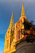 Evening light on the Cathedral of the Assumption, Zagreb, Croatia