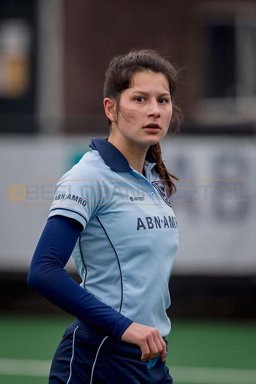 LAREN -  Hockey Hoofdklasse Dames: Laren v Pinoké, seizoen 2020-2021. Foto: Bente van der Veldt (Laren)