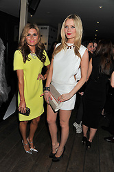 Left to right, ZOE HARDMAN and LAURA WHITMORE at the InStyle Best of British Talent Event in association with Lancôme and Avenue 32 held at The Rooftop Restaurant, Shoreditch House, Ebor Street, London E1 on 30th January 2013.