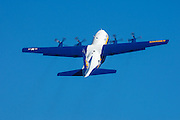 Blue Angels' Fat Albert demonstrating a high performance takeoff at the Oregon International Airshow.