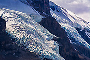 Crevasse detail on Mount Athabasca, Jasper National Park, Alberta, Canada