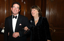 LORD GRIMTHORPE and the COUNTESS DE LA WARR at the 2004 Cartier Racing Awards in association with the Daily Telegraph, held at the Four Seasons Hotel, London on 17th November 2004.<br />