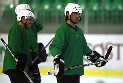 Player Todd Elik of Canada at second ice hockey practice of HDD Tilia Olimpija on ice in the new season 2008/2009, on August 19, 2008 in Hala Tivoli, Ljubljana, Slovenia. (Photo by Vid Ponikvar / Sportal Images)