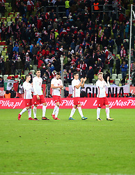 November 13, 2017 - Gdansk, Poland - Poland national football team after the international friendly soccer match between Poland and Mexico at the Energa Stadium in Gdansk, Poland on 13 November 2017  (Credit Image: © Mateusz Wlodarczyk/NurPhoto via ZUMA Press)