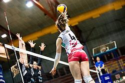 Naja Salamun of Nova KBM Branik during 3rd Leg Volleyball match between Calcit Volley and Nova KBM Maribor in Final of 1. DOL League 2020/21, on April 17, 2021 in Sportna dvorana, Kamnik, Slovenia. Photo by Matic Klansek Velej / Sportida