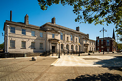 20 April 2020 Rotherham South Yorkshire - Week 5 of the UK emergency measures to combat the Coronavirus Covid-19 Pandemic. Rotherham Town Hall<br /> <br /> 20 April 2020<br /> <br /> www.pauldaviddrabble.co.uk<br /> All Images Copyright Paul David Drabble - <br /> All rights Reserved - <br /> Moral Rights Asserted -