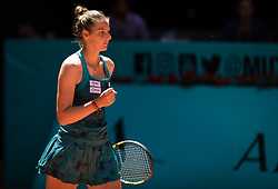 May 4, 2019 - Madrid, MADRID, SPAIN - Kristyna Pliskova of the Czech Republic in action during the second qualifications round of the 2019 Mutua Madrid Open WTA Premier Mandatory tennis tournament (Credit Image: © AFP7 via ZUMA Wire)